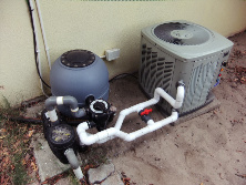heat pump and filtration system for pool